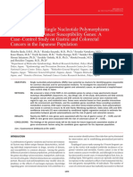 Screening of 214 Single Nucleotide Polymorphisms in 44 Candidate Cancer Susceptibility Genes a Case–Control Study on Gastric and Colorectal Cancers in the Japanese Population
