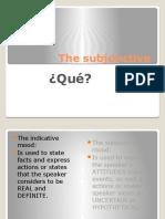 the subjunctive spii