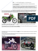 Kawasaki KLR 650 Timeline