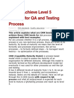 How to Achieve Level 5 Maturity for QA and Testing Process
