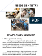 11, 12, 13 - Special Needs Dentistry