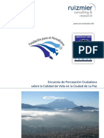 Informe encuesta 2013