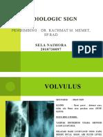 Radiologic Sign Sela