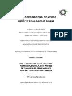 Política y Procedimiento Para La Administración de Base de Datos