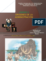 Clase Unidad II - Origenes de La Administración