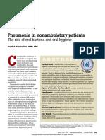 Oral Hygiene Pneumonia