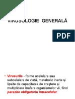 VIRUSOLOGIE  GENERALĂ