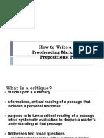 Eng102 Critiquewriting Verbs Prepositions Pronouns