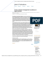 McKinsey & Company - Achieving Customer Management Excellence in EMs