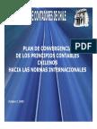 Plan de Convergencia de Los Principios Contables Chilenos Hacia La Normativa Internacionales