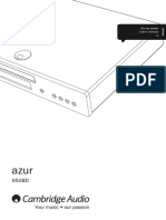 Azur 650BD User Manual - English