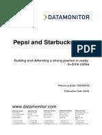 Cscm0042 Pepsi Starbucks Case Study