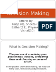 Decision Making 2- BMM Semester 6