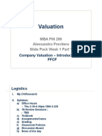 Valuation Slides Week1 1 - Intro and FFCF Previtero