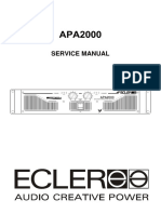 Ecler Apa2000 Amplifier Service Manual