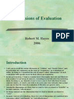 Dimensions of Evaluation (1)