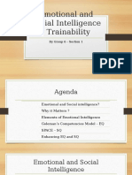 Emotional and Social Intelligence - Trainability