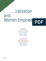Decentralization and Women Empowerment Final