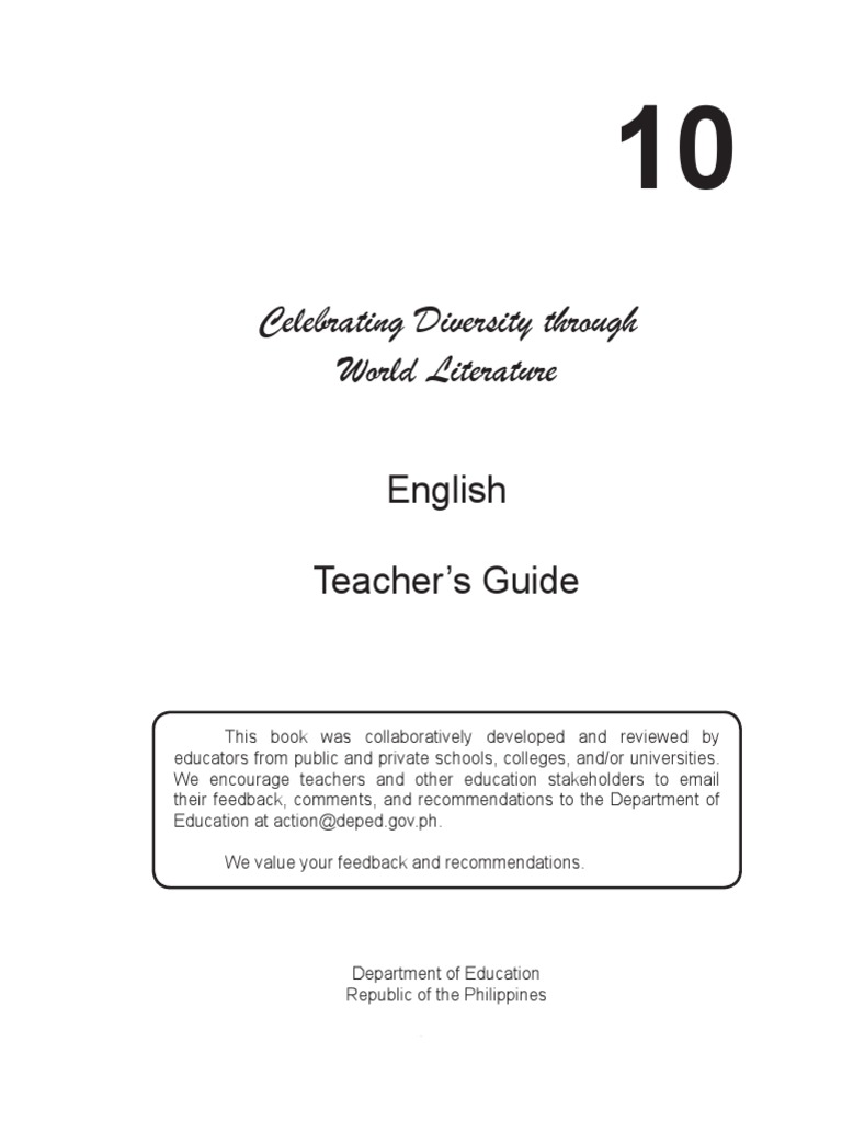 English grade 10 tg unit 1 1 educational assessment curriculum fandeluxe Image collections
