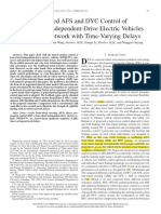 Combined AFS and DYC Control of Four-Wheel-Independent-Drive Electric Vehicles over CAN Network with Time-Varying Delays