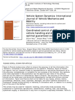 article 1Coordinated control of AFS and DYC for vehicle handling and stability based on optimal guaranteed cost theory