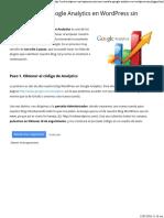 Cómo Instalar Google Analytics en Wordpress Sin Plugins