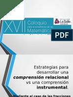 Coloquio Estrategias Comprension Relacional vs InstrumentalR