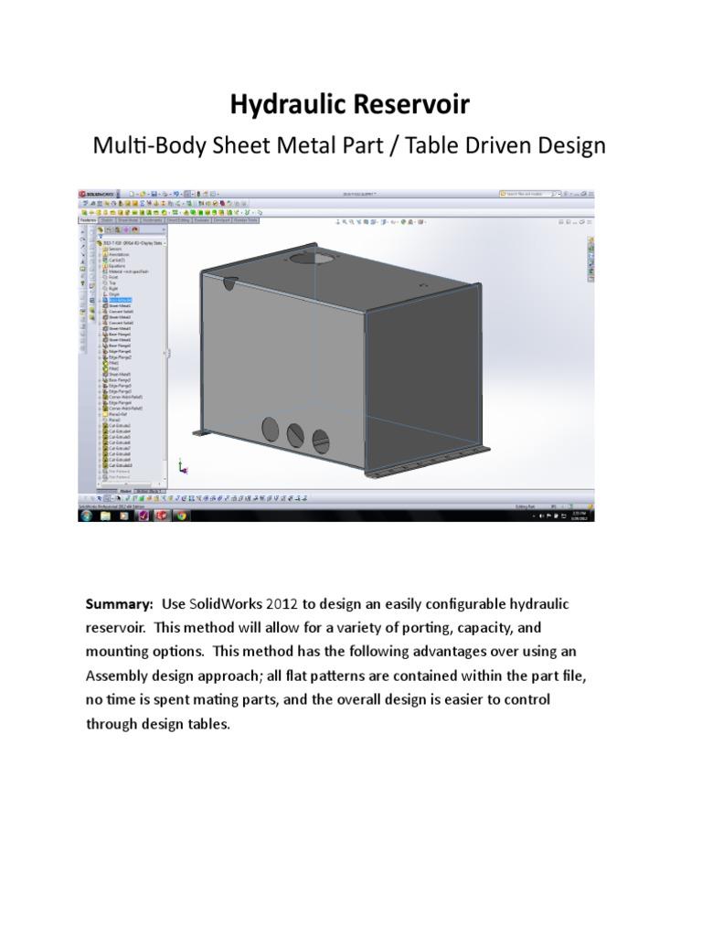 Solidworks Multibody Sheet Metal Design | Sheet Metal