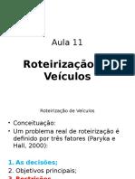 Roteirização de Veículos