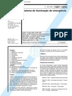NBR 10898 - Sistema de Iluminacao de Emergencia
