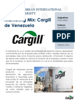Marketing Mix - Carguill de Venezuela C.A
