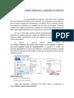 Unidad 2 - Avanzado - Importar y Exportar El Entorno Personalizado