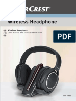 Silvercrest Headphones RFH 1863 Manual En