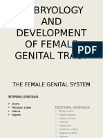 Dvpt of Female Genital Tract