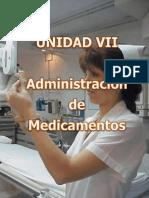 UNIDAD VII Adm. de Medicamentos