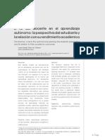 3. El Rol Del Docente en El Aprendizaje Autonomo La Perspectiva Del Estudiante y La Relacion Con Su Rendimiento Academico