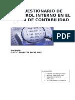 Normas de Control Interno Para El Area de Contabilidad Publica