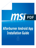 Afterburner Android APP Install Guide