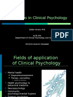 Introduction to Clinical and Counselling Psychology 10 - Specialities in Clinical Psychology