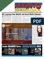 Maamwi Naadamadaa Newspaper - Winter 2016
