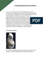 Yacimientos arqueológicos en Caudete
