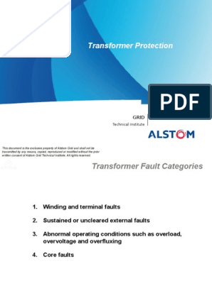 113894818-Transformer-Protection ppt | Transformer | Relay