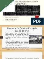 proceso elaboracion de ruedas de tren