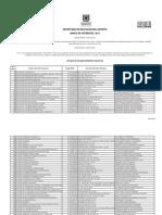 Relacion de Establecimientos INSCRITOS B de O 2013
