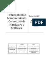 2. Mantenimiento Correctivo de Hardware y Software vs 2