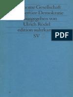 ROEDEL (Hg) Autonome Gesellschaft Und Libertäre Demokratie