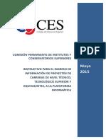 Instructivo Plataforma Informtica Para Institutos y Conservatorios Superiores