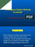 Paradigma Dalam Metode Kualitatif