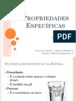 02 - Propriedades Específicas Da Matéria (2016)