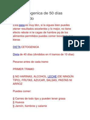dieta cetosisgenica menu 50 dias pdf